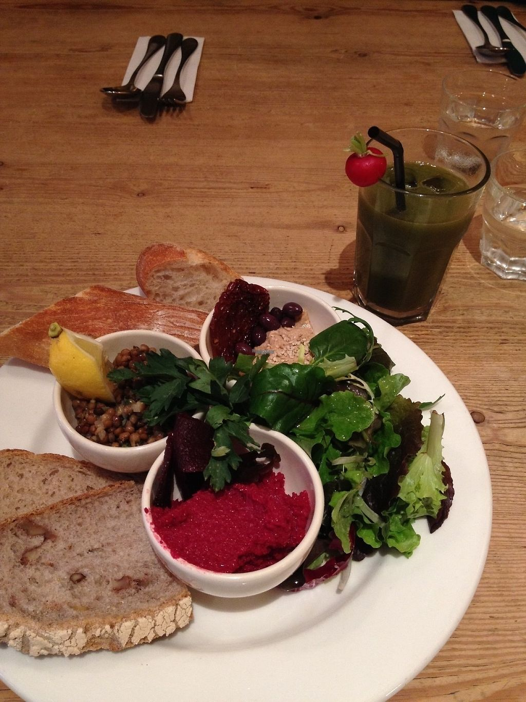 """Photo of Le Pain Quotidien  by <a href=""""/members/profile/aertskato"""">aertskato</a> <br/>Bread with different spreads <br/> April 14, 2017  - <a href='/contact/abuse/image/86340/247934'>Report</a>"""