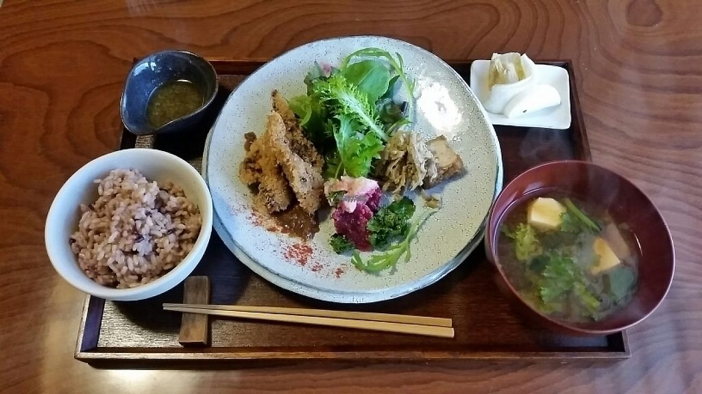 """Photo of Veggie Ya  by <a href=""""/members/profile/belldandy"""">belldandy</a> <br/>Lunch special with tempeh katsu <br/> January 31, 2017  - <a href='/contact/abuse/image/86356/220034'>Report</a>"""