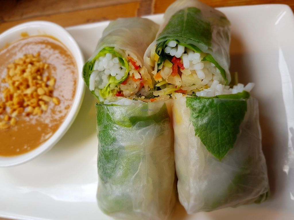 """Photo of Pho  by <a href=""""/members/profile/Heliotropka"""">Heliotropka</a> <br/>peanut sauce and rice paper rools <br/> August 5, 2017  - <a href='/contact/abuse/image/86376/289297'>Report</a>"""