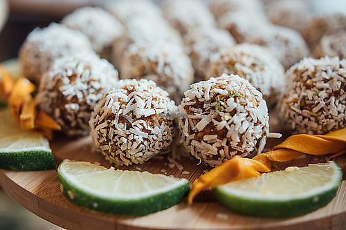 "Photo of The Heart Cafe  by <a href=""/members/profile/EmmaCebuliak"">EmmaCebuliak</a> <br/>Raw bliss balls <br/> August 15, 2017  - <a href='/contact/abuse/image/86378/292785'>Report</a>"