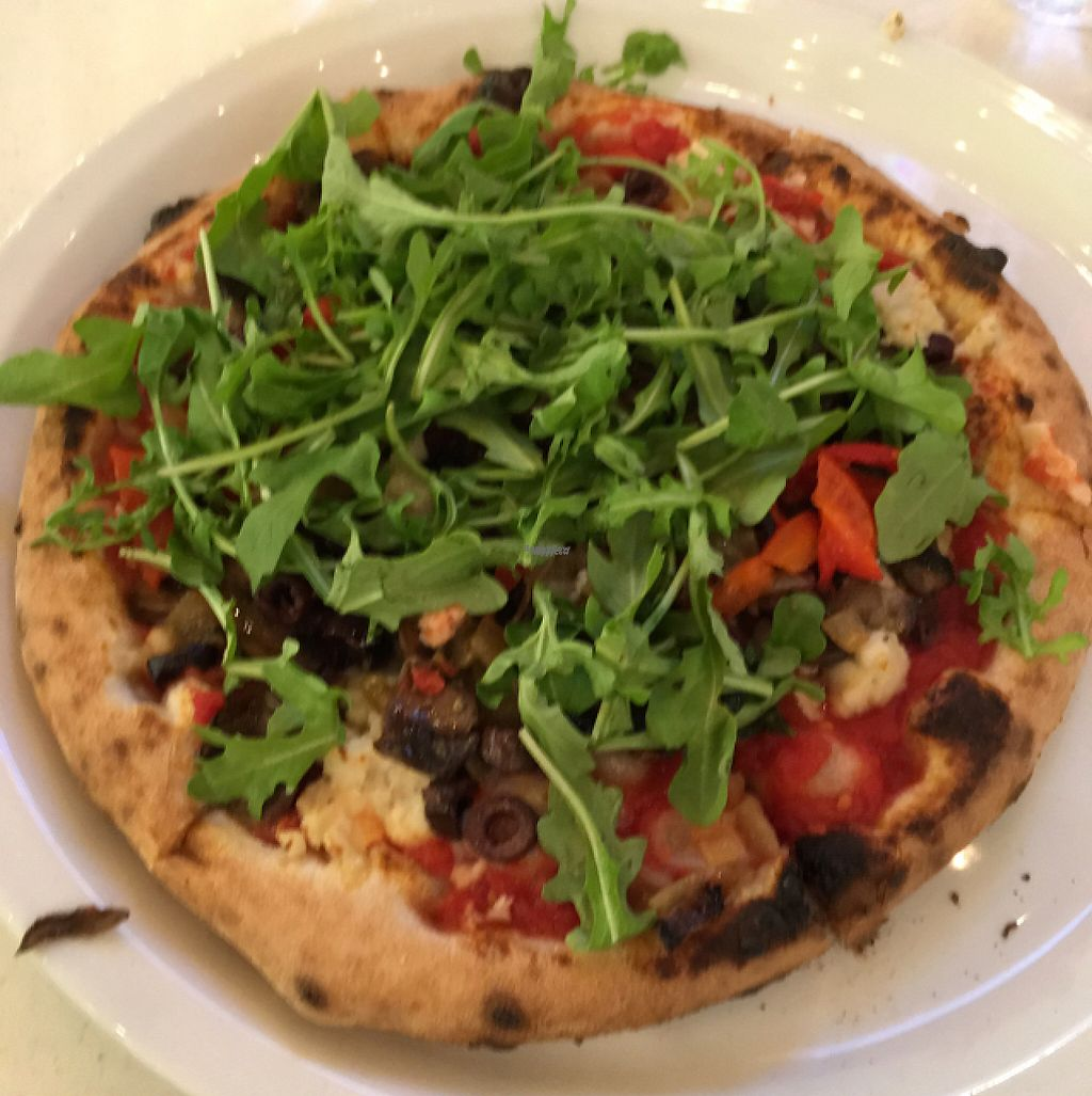 """Photo of Firecrust  by <a href=""""/members/profile/philblais"""">philblais</a> <br/>vegan pizza with unlimited toppings, so good!! <br/> February 3, 2017  - <a href='/contact/abuse/image/86380/221443'>Report</a>"""