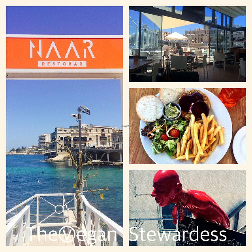 """Photo of Naar RestoBar  by <a href=""""/members/profile/VeganStewardess"""">VeganStewardess</a> <br/>Restobar with a view <br/> May 18, 2017  - <a href='/contact/abuse/image/86405/259921'>Report</a>"""