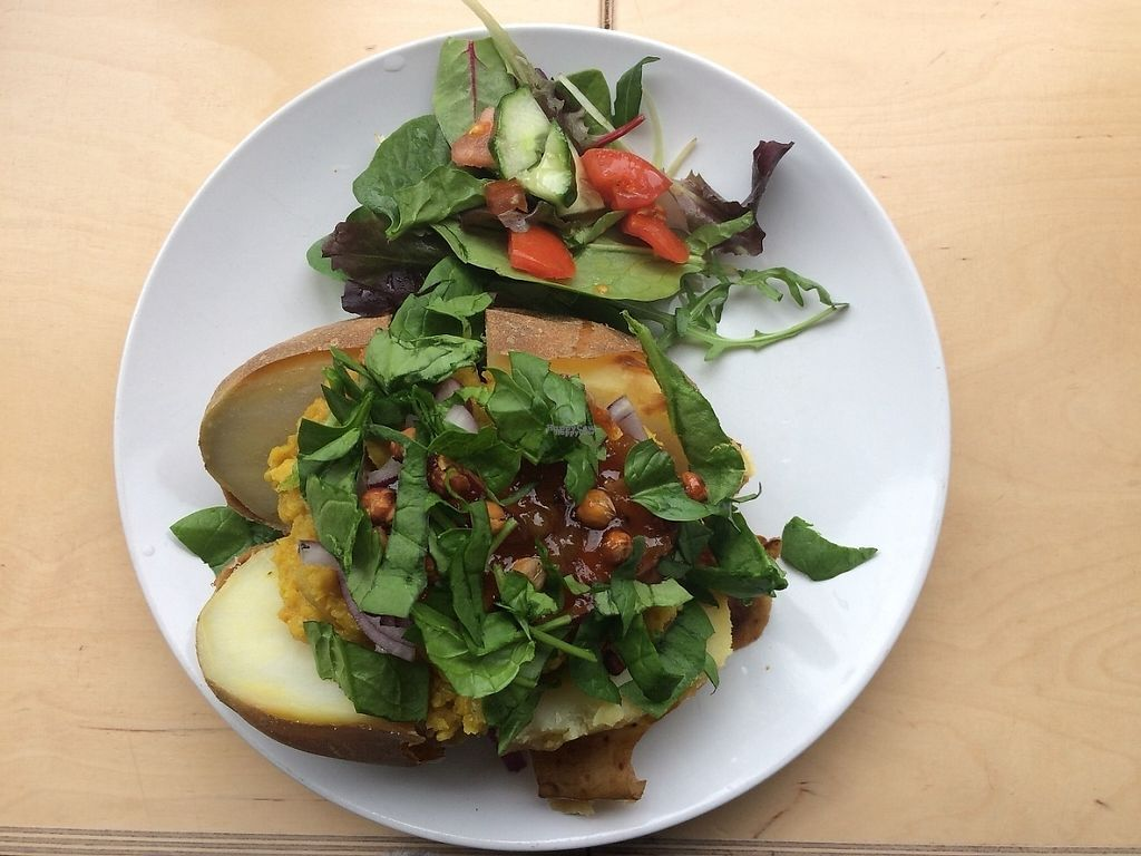 "Photo of Larder  by <a href=""/members/profile/SaraBarker"">SaraBarker</a> <br/>Jacket potato with lentil dahl.  <br/> April 10, 2017  - <a href='/contact/abuse/image/86440/246706'>Report</a>"