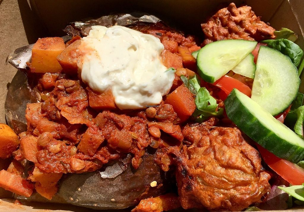 "Photo of Larder  by <a href=""/members/profile/burgerabroad"">burgerabroad</a> <br/>jacket potato with vegan chili and sour cream <br/> June 9, 2017  - <a href='/contact/abuse/image/86440/267405'>Report</a>"