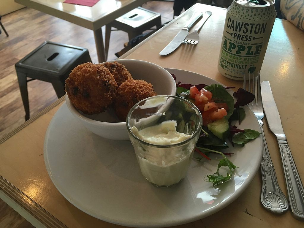 "Photo of Larder  by <a href=""/members/profile/jojoinbrighton"">jojoinbrighton</a> <br/>Mac & cheese balls <br/> August 5, 2017  - <a href='/contact/abuse/image/86440/288966'>Report</a>"