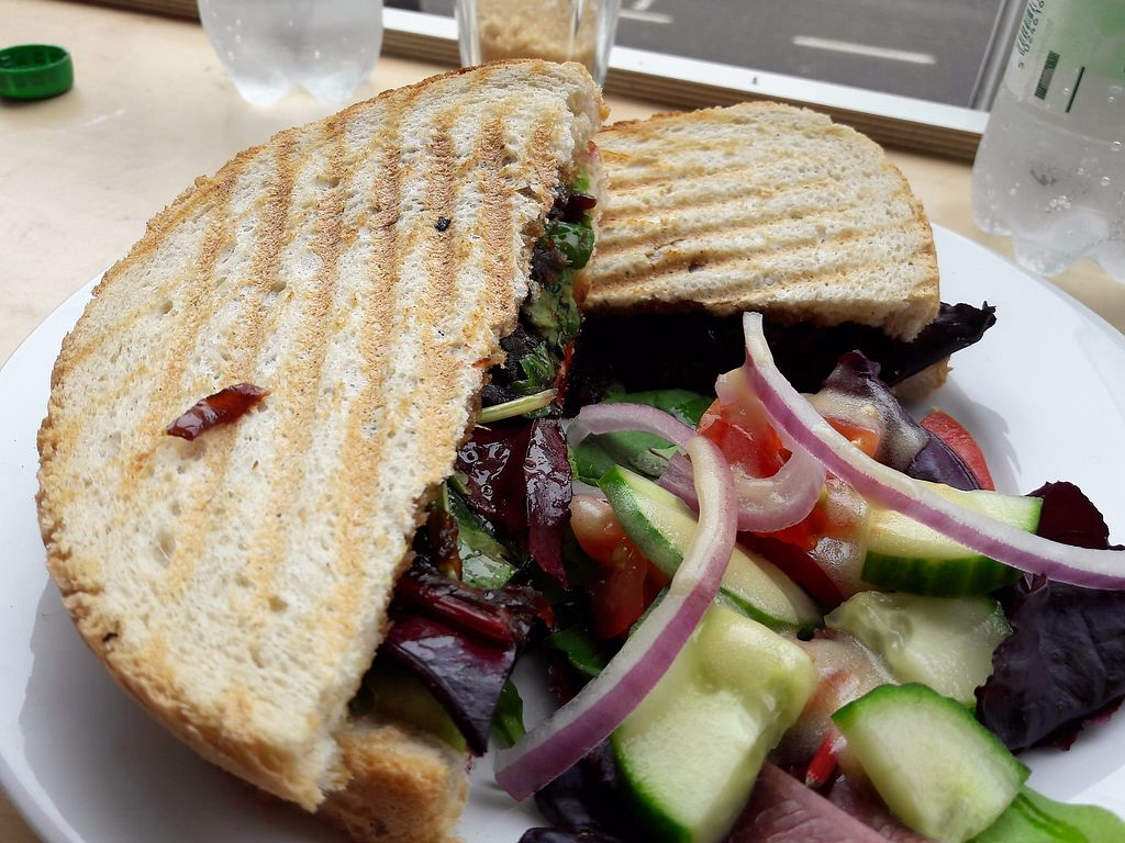 "Photo of Larder  by <a href=""/members/profile/Veganolive1"">Veganolive1</a> <br/>Avocado &  beetroot toasted sandwich <br/> September 9, 2017  - <a href='/contact/abuse/image/86440/302499'>Report</a>"