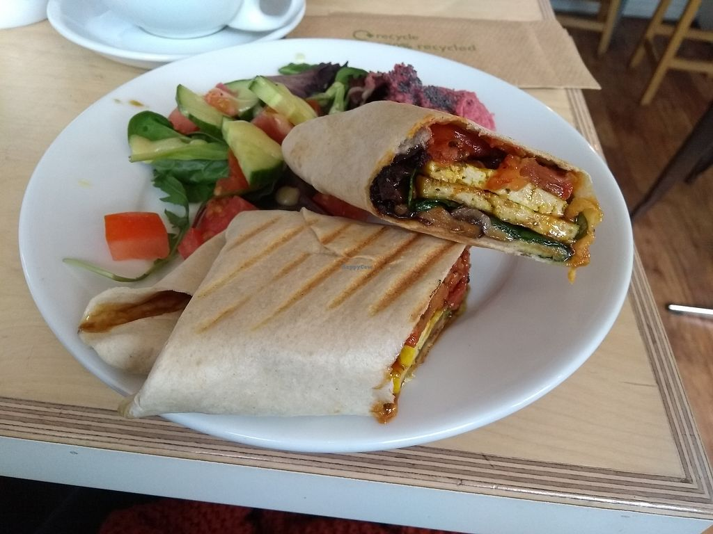 "Photo of Larder  by <a href=""/members/profile/Kamai"">Kamai</a> <br/>Breakfast burrito  <br/> March 15, 2018  - <a href='/contact/abuse/image/86440/370866'>Report</a>"