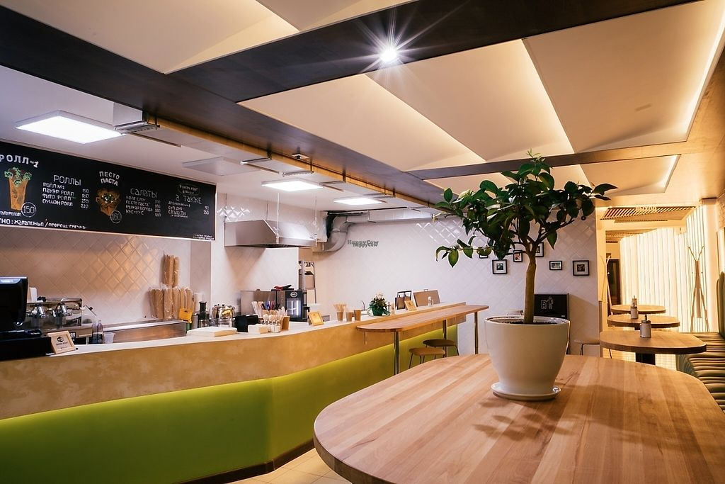 """Photo of CLOSED: Green Point  by <a href=""""/members/profile/DanKARPINSKII"""">DanKARPINSKII</a> <br/>Long bar in pastel colors, handmade by Russian yang Artists.  An open kitchen allows you to see the cooking process from start to the end <br/> March 18, 2017  - <a href='/contact/abuse/image/86443/237950'>Report</a>"""