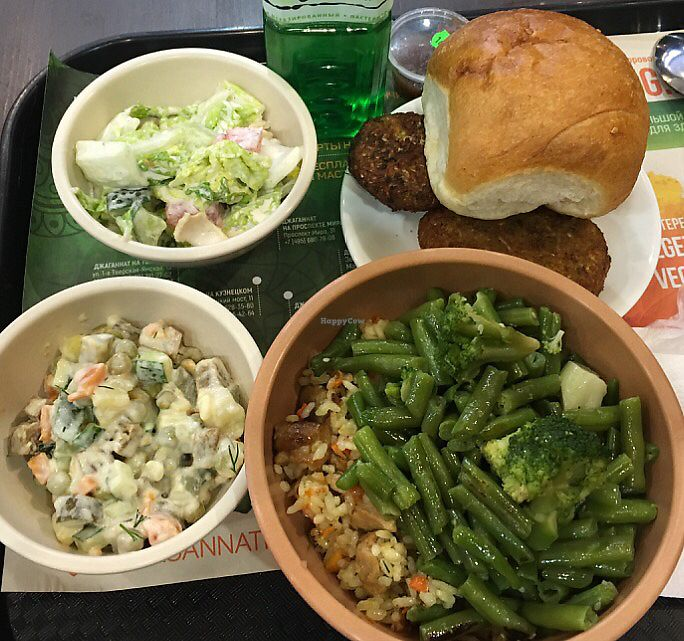 """Photo of Jagannath - Prospect Mira  by <a href=""""/members/profile/Kleeblatt"""">Kleeblatt</a> <br/>Vegan Restaurant. This was 700 Rubbles, ca. 10€ . Awesome taste, loads of selections. Healthy Fresh. All above was Vegan <br/> October 17, 2017  - <a href='/contact/abuse/image/86448/316118'>Report</a>"""
