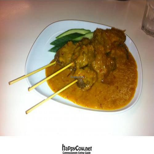 """Photo of CLOSED: Vegie Village  by <a href=""""/members/profile/evey_w"""">evey_w</a> <br/>My Entree: Satay Mushroom Nuggets - delicious and very filling! <br/> February 3, 2012  - <a href='/contact/abuse/image/8644/27770'>Report</a>"""