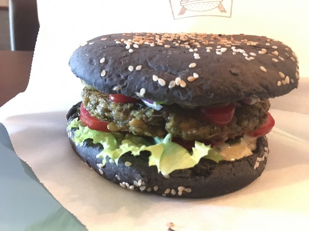 """Photo of Ugol  by <a href=""""/members/profile/ErinO%27Reilly"""">ErinO'Reilly</a> <br/>Lentil burger <br/> June 21, 2017  - <a href='/contact/abuse/image/86459/271847'>Report</a>"""