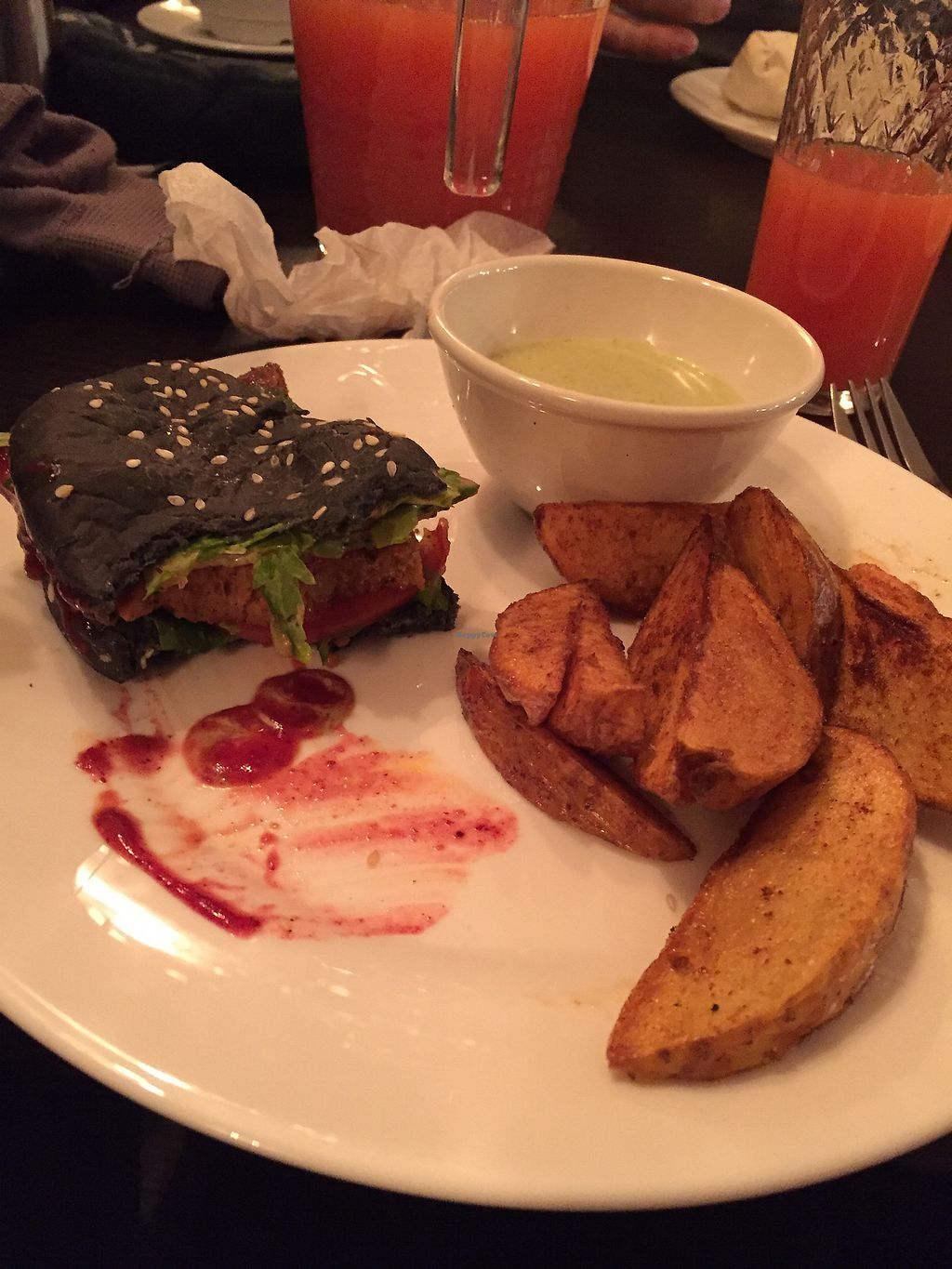 """Photo of Ugol  by <a href=""""/members/profile/LillyHunt"""">LillyHunt</a> <br/>Seitan miniburger and wedges <br/> October 31, 2017  - <a href='/contact/abuse/image/86459/320337'>Report</a>"""