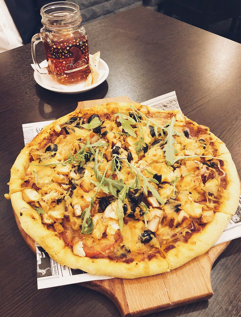 """Photo of Ugol  by <a href=""""/members/profile/Evgenia"""">Evgenia</a> <br/>Vegan pizza <br/> December 14, 2017  - <a href='/contact/abuse/image/86459/335586'>Report</a>"""