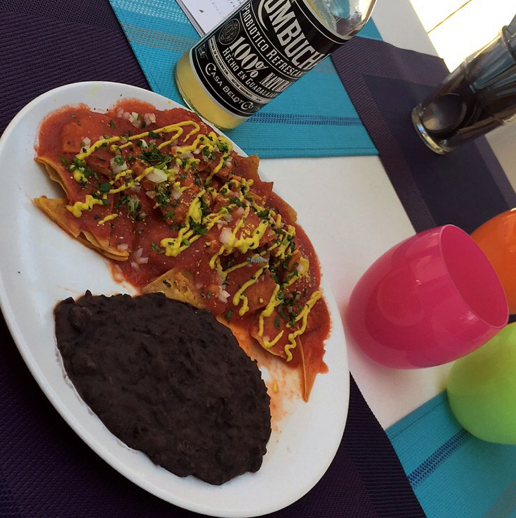 """Photo of Machima  by <a href=""""/members/profile/JennGee7"""">JennGee7</a> <br/>Chilaquiles with black beans  <br/> March 15, 2017  - <a href='/contact/abuse/image/86490/236755'>Report</a>"""