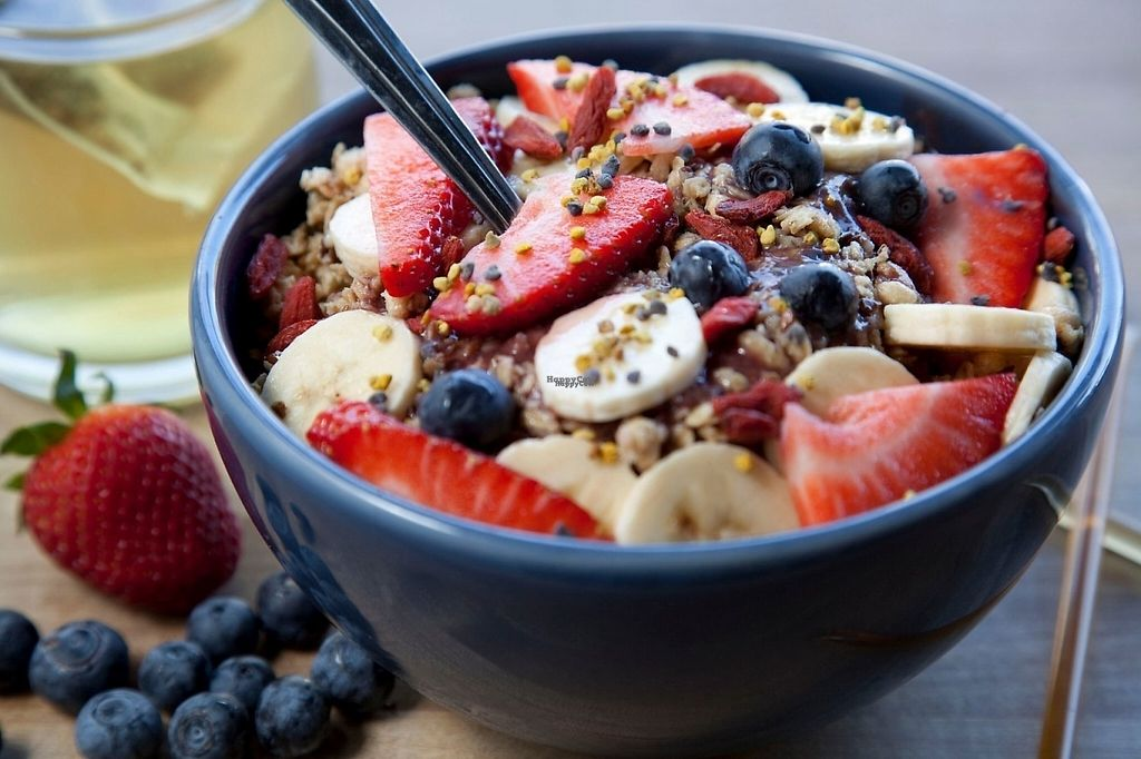 """Photo of Graze  by <a href=""""/members/profile/GrazeArtisanCafe"""">GrazeArtisanCafe</a> <br/>acai smoothie bowl <br/> February 5, 2017  - <a href='/contact/abuse/image/86499/222617'>Report</a>"""