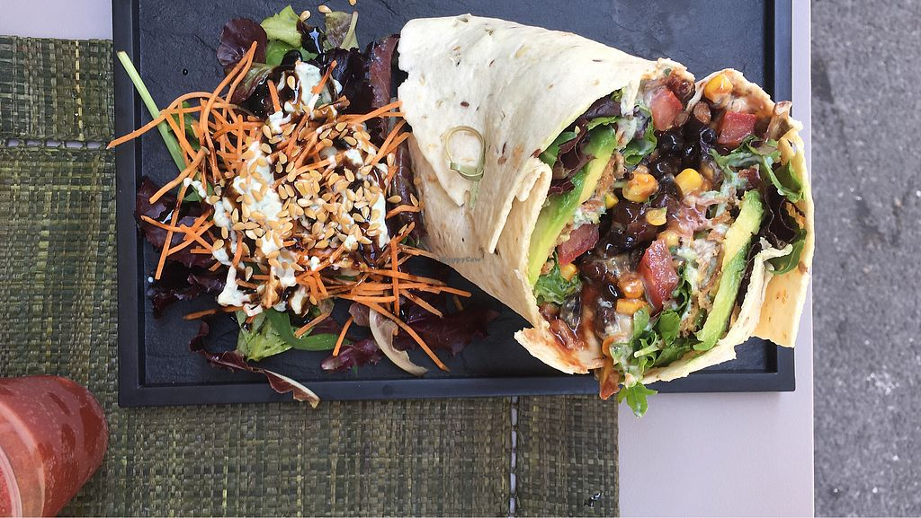 """Photo of Graze  by <a href=""""/members/profile/salomewho"""">salomewho</a> <br/>vegan burrito <br/> July 9, 2017  - <a href='/contact/abuse/image/86499/278337'>Report</a>"""