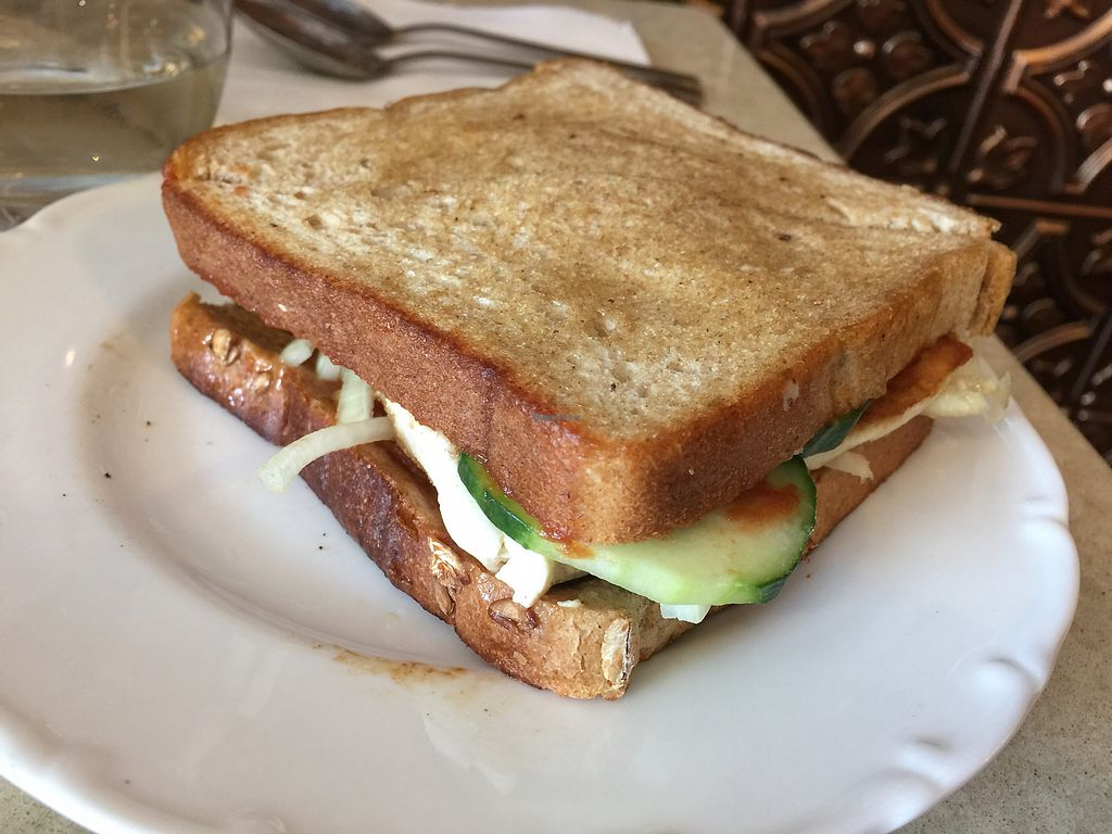"""Photo of Tiwari Tea House  by <a href=""""/members/profile/Tiggy"""">Tiggy</a> <br/>Tofu sandwich $9.95 - dominated by sweet chilli <br/> November 29, 2017  - <a href='/contact/abuse/image/86507/330338'>Report</a>"""
