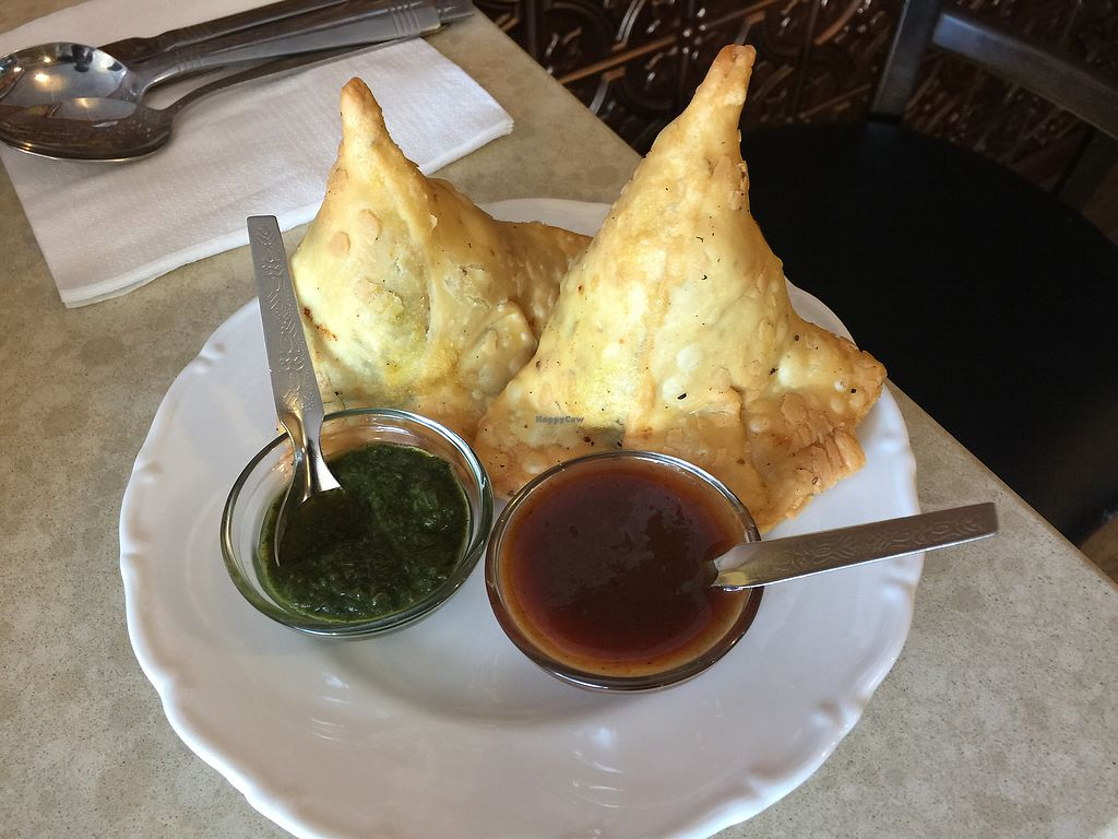 """Photo of Tiwari Tea House  by <a href=""""/members/profile/Tiggy"""">Tiggy</a> <br/>Samosas $6 - delicious but not exceptional  <br/> November 29, 2017  - <a href='/contact/abuse/image/86507/330339'>Report</a>"""