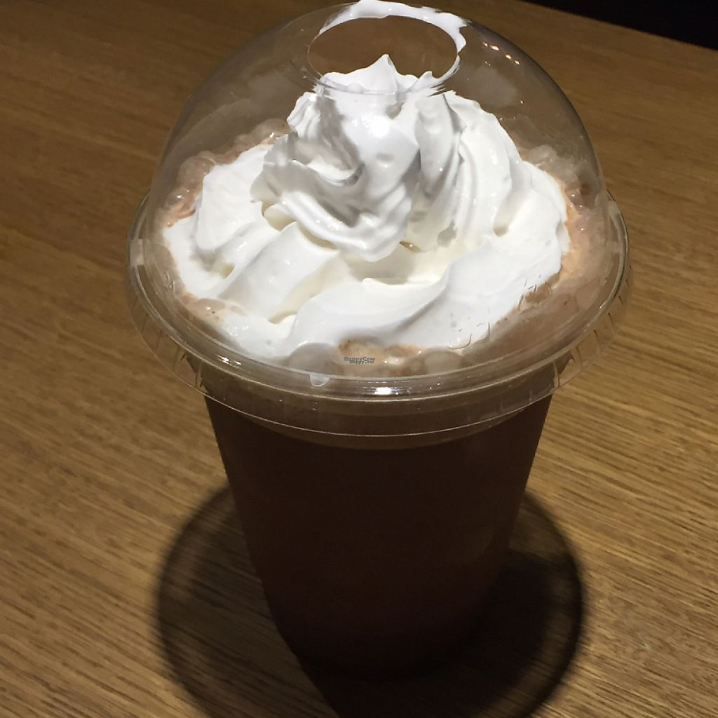 """Photo of Earth Restaurant & Takeaway  by <a href=""""/members/profile/VeganD%21"""">VeganD!</a> <br/>Mmm. Vegan hot chocolate with whipped cream.  <br/> February 23, 2017  - <a href='/contact/abuse/image/86514/229738'>Report</a>"""