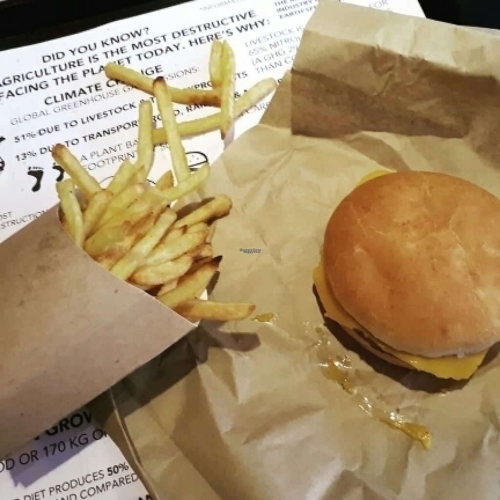 """Photo of Earth Restaurant & Takeaway  by <a href=""""/members/profile/amypattison"""">amypattison</a> <br/>cheeseburger!!! <br/> April 2, 2017  - <a href='/contact/abuse/image/86514/244075'>Report</a>"""