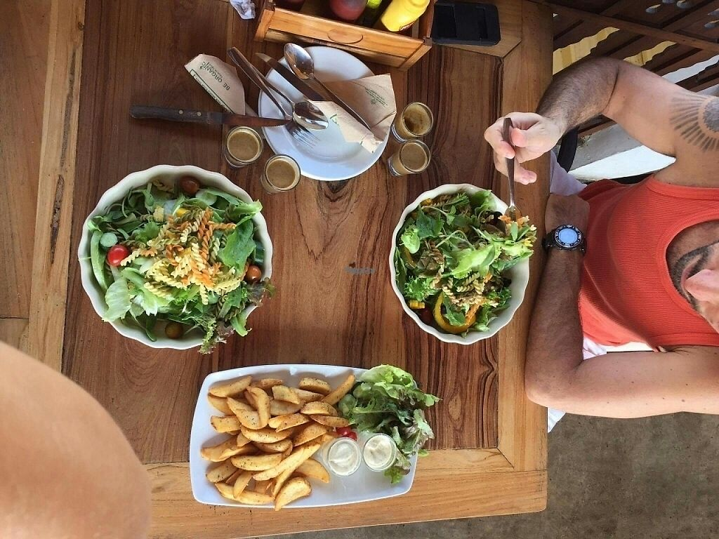 """Photo of Ohkajhu Organic Restaurant  by <a href=""""/members/profile/GuruYoga"""">GuruYoga</a> <br/>Two organic salads and wedges  <br/> February 4, 2017  - <a href='/contact/abuse/image/86519/221899'>Report</a>"""