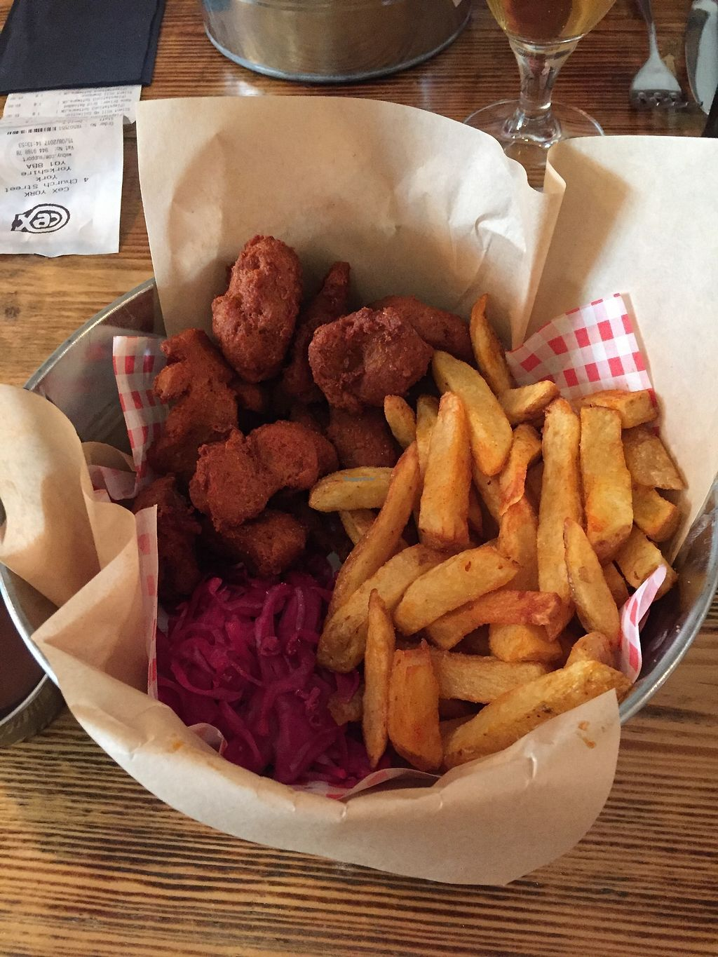 """Photo of Source  by <a href=""""/members/profile/Jennywheel"""">Jennywheel</a> <br/>Vegan fried chicken main <br/> August 21, 2017  - <a href='/contact/abuse/image/86526/295225'>Report</a>"""