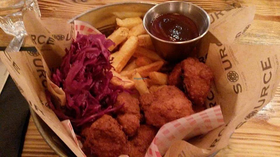 """Photo of Source  by <a href=""""/members/profile/deadpledge"""">deadpledge</a> <br/>Vegan fried chicken <br/> November 4, 2017  - <a href='/contact/abuse/image/86526/321662'>Report</a>"""