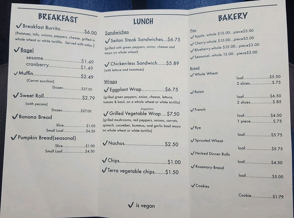 """Photo of Our Daily Bread  by <a href=""""/members/profile/KaylaReed"""">KaylaReed</a> <br/>menu as of 1/21/18 <br/> January 21, 2018  - <a href='/contact/abuse/image/86535/349539'>Report</a>"""