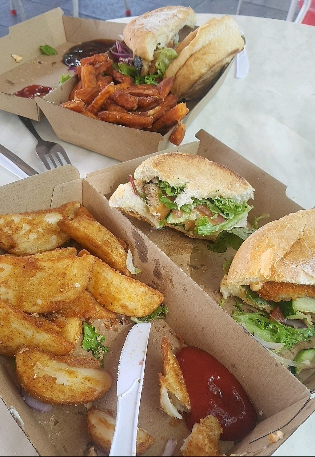 """Photo of The Fish Shack  by <a href=""""/members/profile/JessicaBrown"""">JessicaBrown</a> <br/>burgers and chips <br/> December 18, 2017  - <a href='/contact/abuse/image/86550/336776'>Report</a>"""