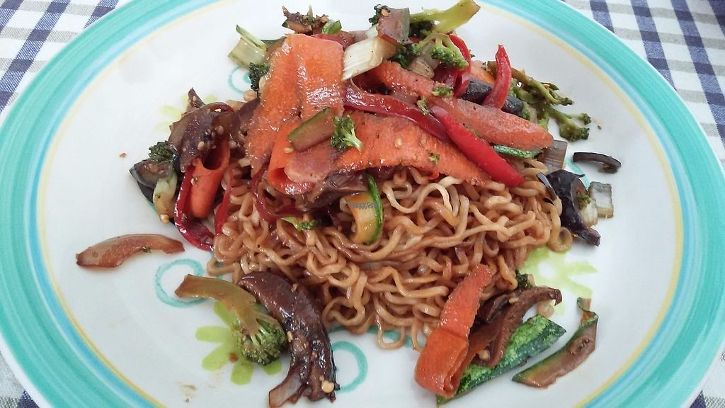 """Photo of Lupito Cocina Vegana  by <a href=""""/members/profile/PaolaBanegasLordeman"""">PaolaBanegasLordeman</a> <br/>Asian noodles with shitake mushrooms and vegetables <br/> February 3, 2017  - <a href='/contact/abuse/image/86554/221584'>Report</a>"""