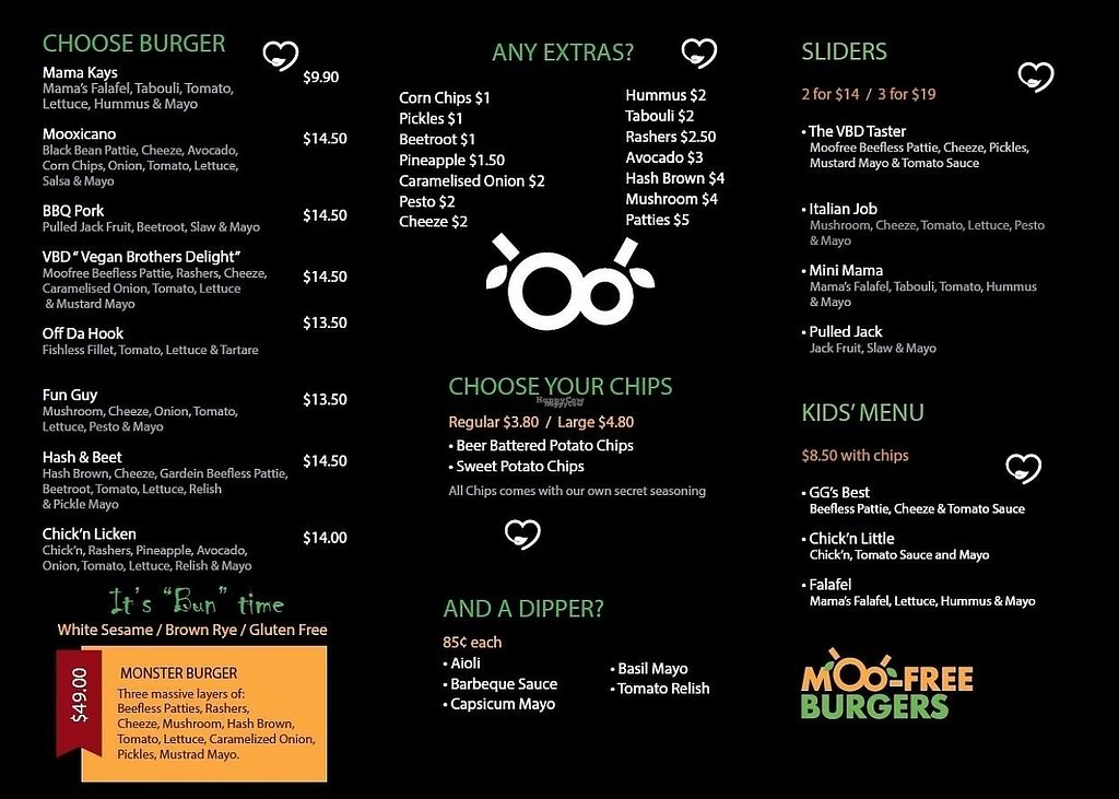 "Photo of MooFree Burgers - North Lakes  by <a href=""/members/profile/Ladylock"">Ladylock</a> <br/>Menu <br/> February 4, 2017  - <a href='/contact/abuse/image/86582/221788'>Report</a>"