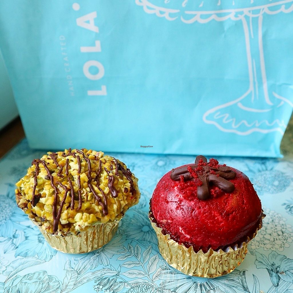"""Photo of Lola's Cupcakes  by <a href=""""/members/profile/charclothier"""">charclothier</a> <br/>Pitaschio Cupcake and Red Velvet  <br/> November 6, 2017  - <a href='/contact/abuse/image/86617/322496'>Report</a>"""