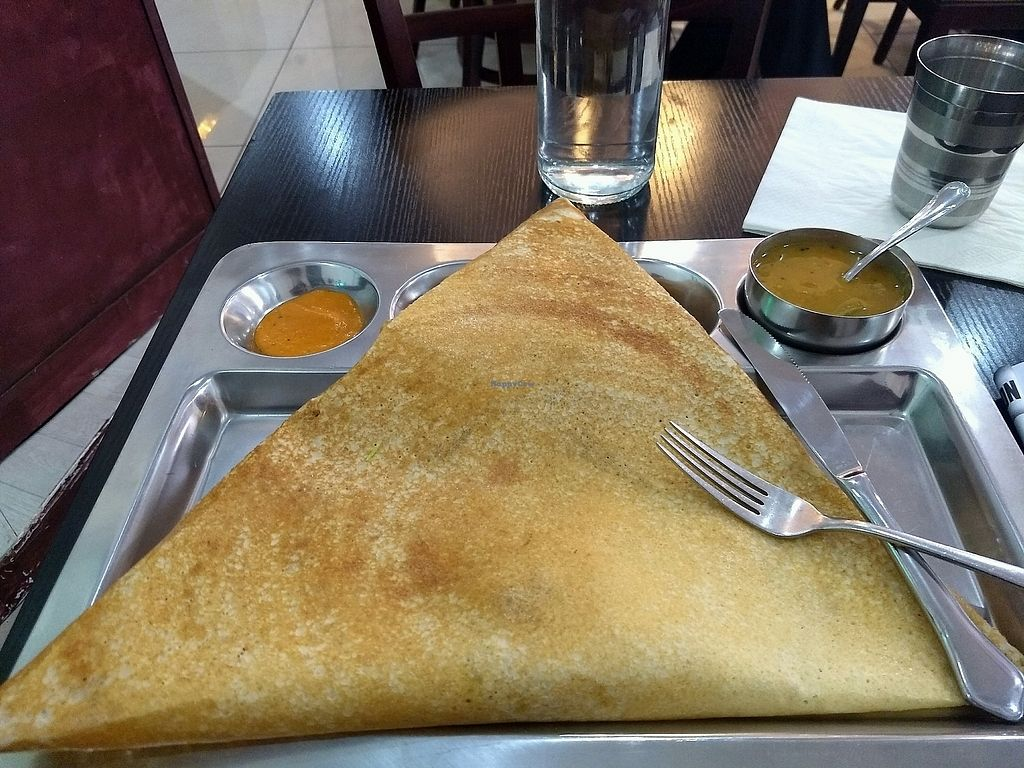 """Photo of Paris Chennai Dosa  by <a href=""""/members/profile/Cam"""">Cam</a> <br/>Masala Paper Dosa <br/> December 19, 2017  - <a href='/contact/abuse/image/86630/337301'>Report</a>"""