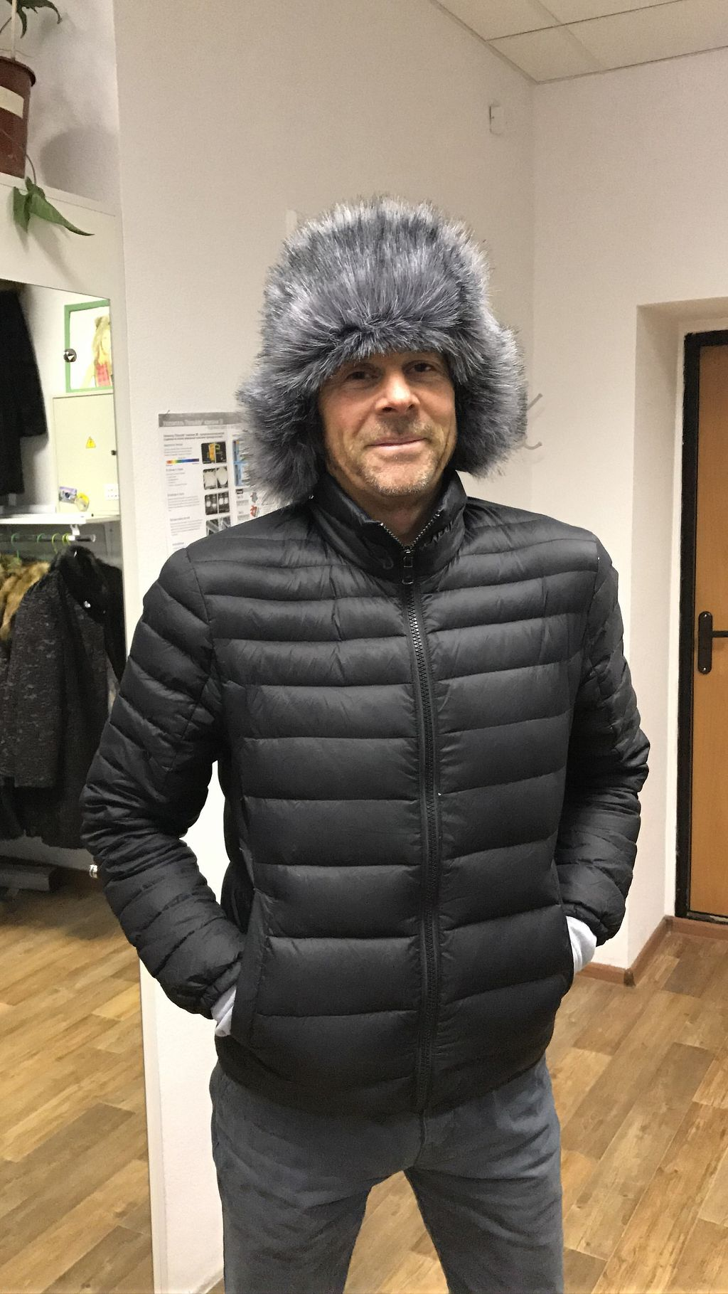 """Photo of UNREAL Fur Coat  by <a href=""""/members/profile/YoungLancashire"""">YoungLancashire</a> <br/>Decision Time... Yes I will buy the hat! <br/> January 3, 2018  - <a href='/contact/abuse/image/86631/342560'>Report</a>"""