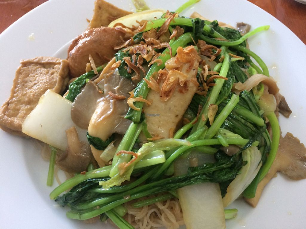 """Photo of Ngoc Huong  by <a href=""""/members/profile/FatTonyBMX"""">FatTonyBMX</a> <br/>Fired noodles with vegetables, tofu, and mock meats.  <br/> February 5, 2017  - <a href='/contact/abuse/image/86639/223489'>Report</a>"""