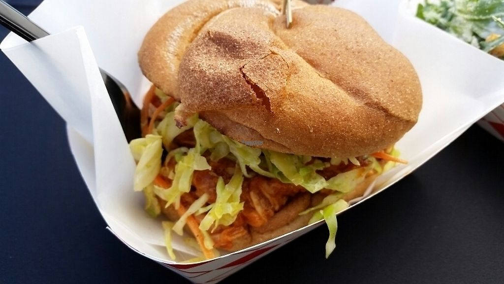 """Photo of Word of Mouth - Food Truck  by <a href=""""/members/profile/eric"""">eric</a> <br/>BBQ pulled jackfruit burger <br/> April 16, 2017  - <a href='/contact/abuse/image/86668/248660'>Report</a>"""
