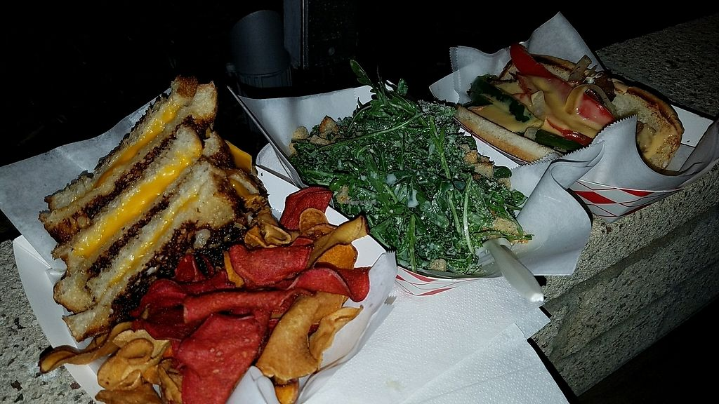"""Photo of Word of Mouth - Food Truck  by <a href=""""/members/profile/eric"""">eric</a> <br/>grilled cheese, kale Caesar, Philly cheese steak <br/> February 1, 2018  - <a href='/contact/abuse/image/86668/353817'>Report</a>"""