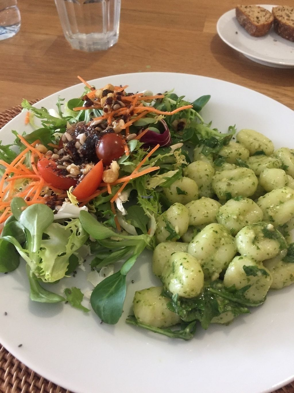 """Photo of The Farmacy Cafe  by <a href=""""/members/profile/Bellyveggie"""">Bellyveggie</a> <br/>Pesto pasta and salad. Menu of the day for 12 euros..... included a tomato soup and carrot cake after. What a deal!  <br/> April 23, 2017  - <a href='/contact/abuse/image/86671/251362'>Report</a>"""