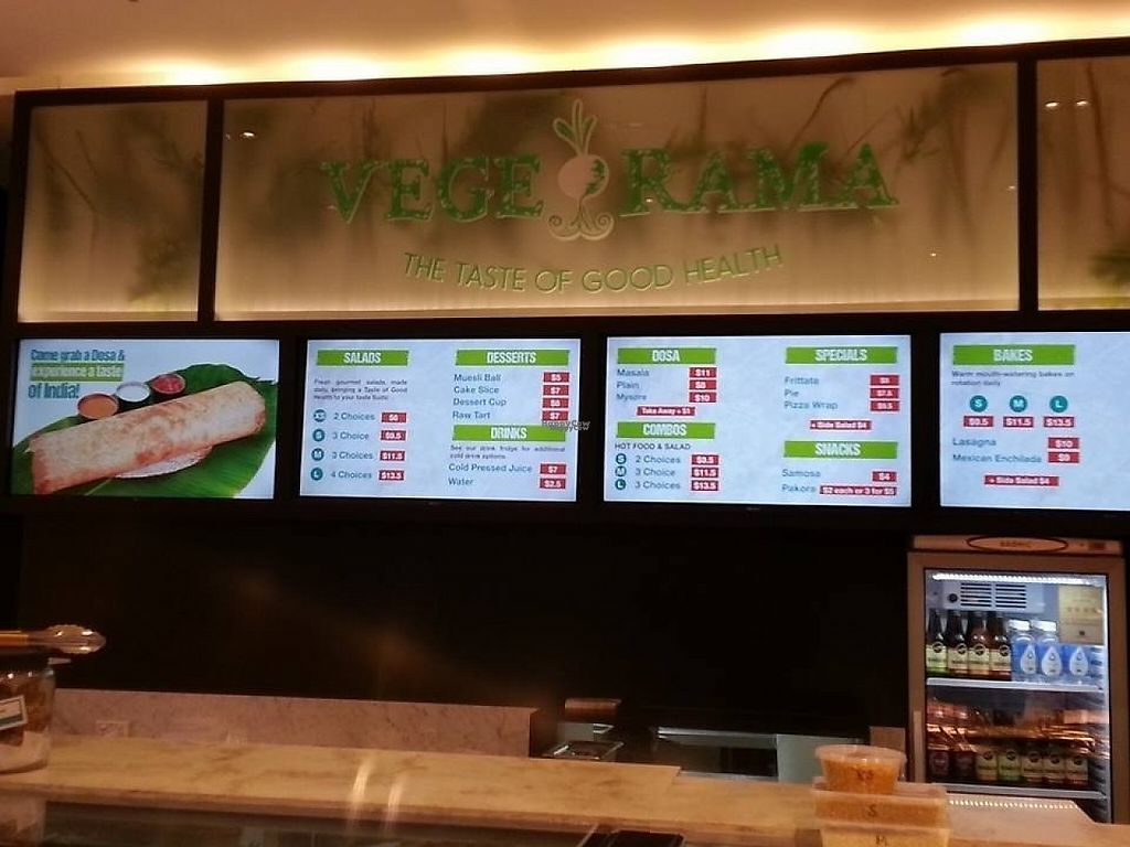 """Photo of Vege Rama - Westfield Carindale   by <a href=""""/members/profile/Ladylock"""">Ladylock</a> <br/>Vege rama menus <br/> February 5, 2017  - <a href='/contact/abuse/image/86677/222774'>Report</a>"""