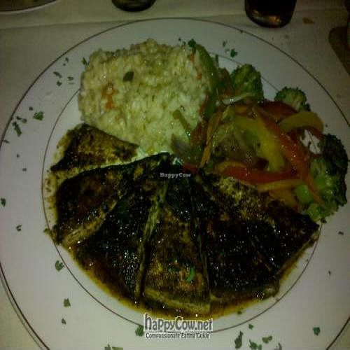 """Photo of Octopus's Garden  by <a href=""""/members/profile/michelec"""">michelec</a> <br/>Blackened tofu, citrus risotto and roasted vegetables <br/> January 18, 2011  - <a href='/contact/abuse/image/8668/7107'>Report</a>"""