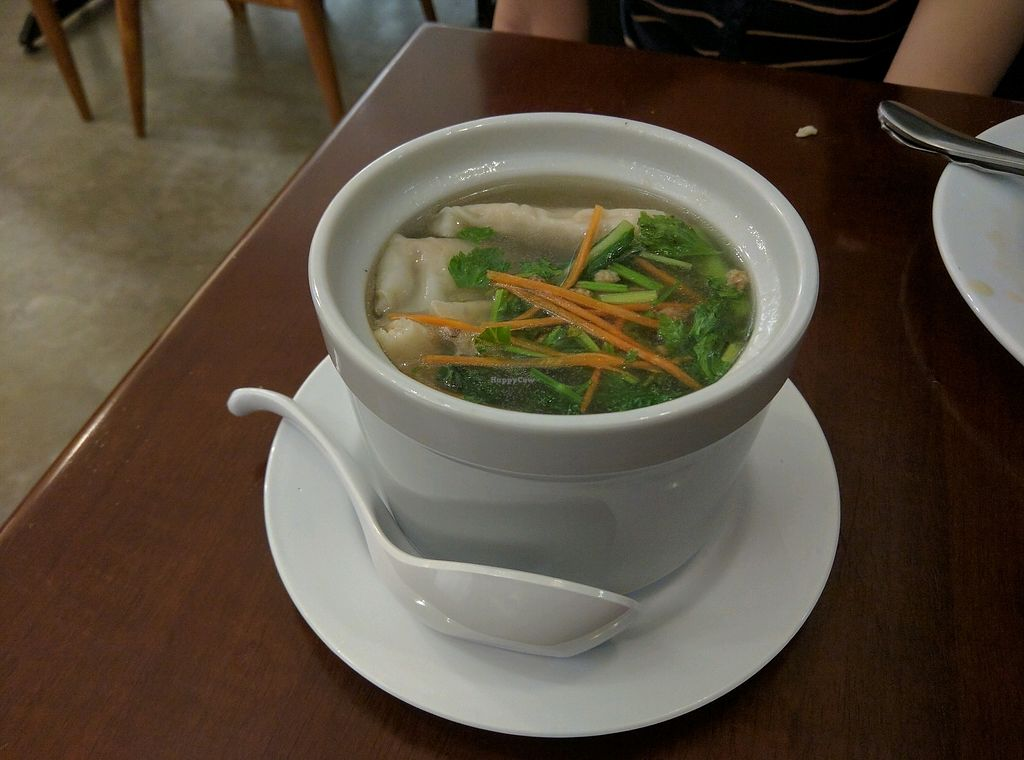 "Photo of Xiang Yun Vegetarian  by <a href=""/members/profile/Summer_Tan"">Summer_Tan</a> <br/>Dumplings with Soup (Ask staff for it) = Light soup with nice filling vegetable dumplings! <br/> January 28, 2018  - <a href='/contact/abuse/image/86691/351902'>Report</a>"