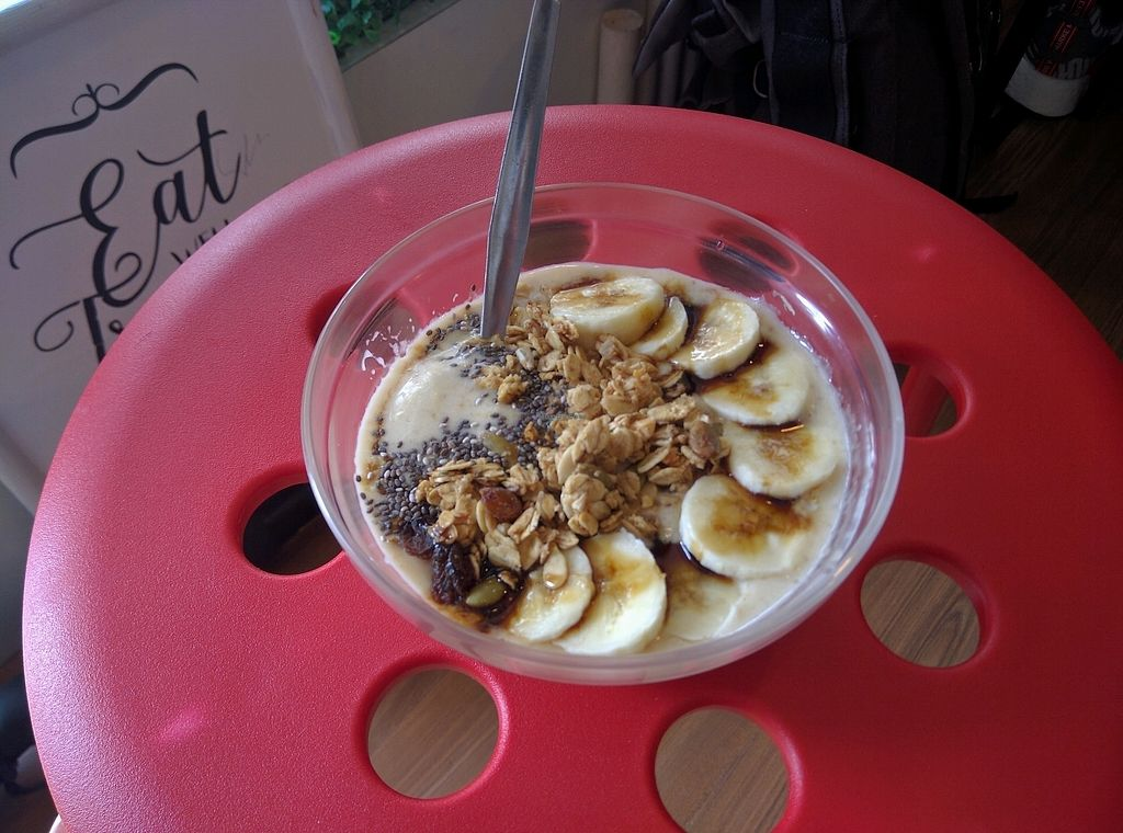 "Photo of Shia's Homemade Granola  by <a href=""/members/profile/Summer_Tan"">Summer_Tan</a> <br/>Nangka Nana Smoothie Bowl - RM14 (extra RM2 for almond milk alternative to yoghurt) Banana, Jackfruit and Almond Milk smoothie, topped with Chia Seed, Granola and Gula Melaka. Pretty good and creamy. Portion is ok <br/> February 2, 2018  - <a href='/contact/abuse/image/86692/353875'>Report</a>"
