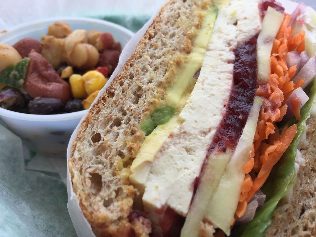 """Photo of Living on the Veg  by <a href=""""/members/profile/Wgoers"""">Wgoers</a> <br/>Tofu deluxe sandwich <br/> May 4, 2018  - <a href='/contact/abuse/image/8669/395004'>Report</a>"""