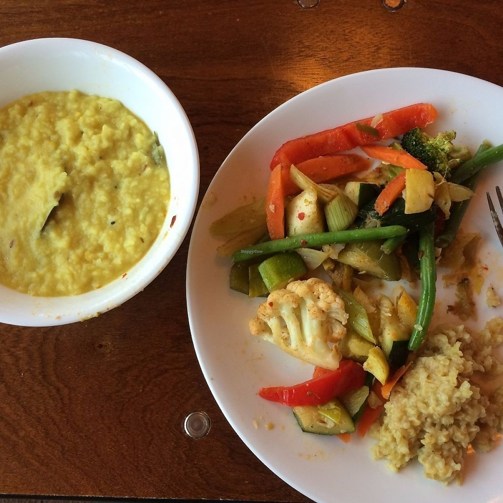 """Photo of Art of Living Retreat Center  by <a href=""""/members/profile/KatieBush"""">KatieBush</a> <br/>dinner- kicheri, vegetables, wheat germ <br/> May 25, 2017  - <a href='/contact/abuse/image/86705/262416'>Report</a>"""