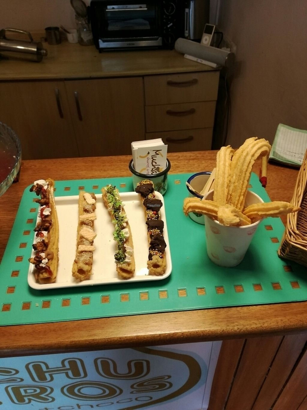 """Photo of The Churro Bar & Vegan Bakery  by <a href=""""/members/profile/elisou"""">elisou</a> <br/>churros fiesta! <br/> March 9, 2017  - <a href='/contact/abuse/image/86714/234369'>Report</a>"""