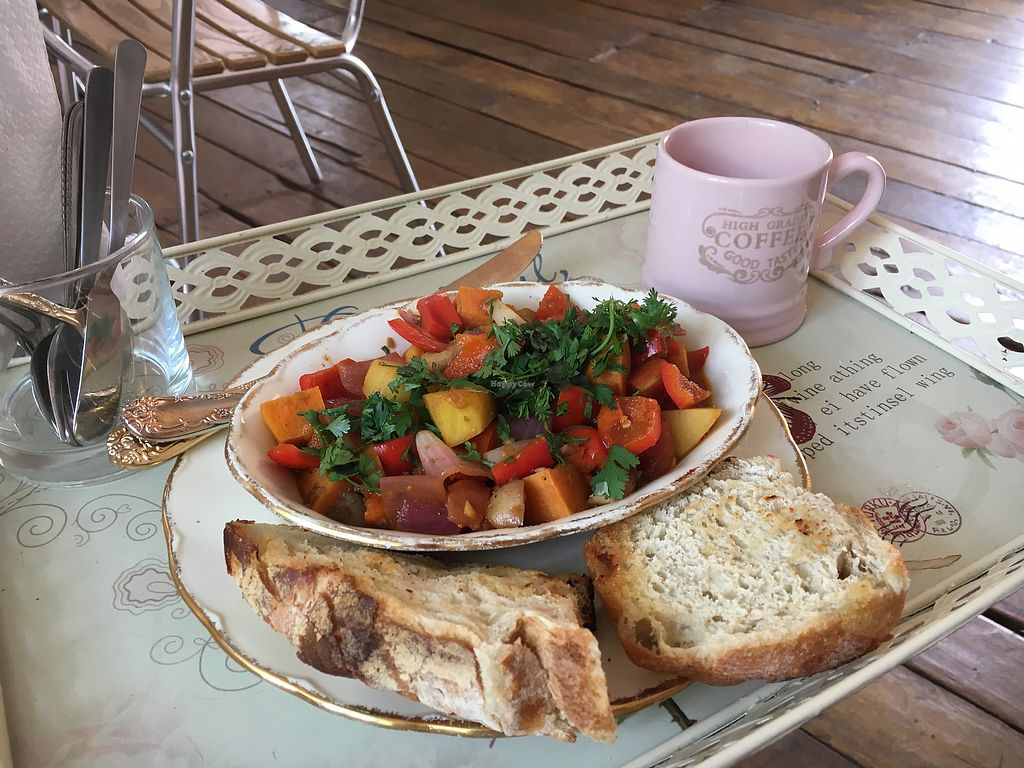 """Photo of The Churro Bar & Vegan Bakery  by <a href=""""/members/profile/Annabelleleee"""">Annabelleleee</a> <br/>Sweet potato breakfast stew  <br/> March 8, 2018  - <a href='/contact/abuse/image/86714/368288'>Report</a>"""
