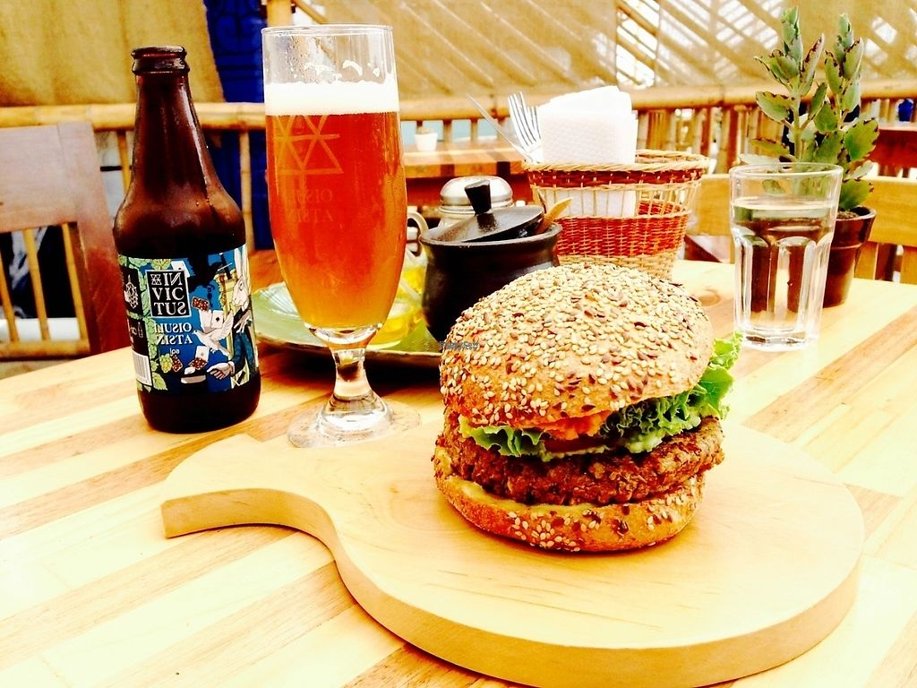 """Photo of La Cosecha  by <a href=""""/members/profile/DanaKatscha"""">DanaKatscha</a> <br/>Best lentil burger ever even of you Order the vegan version without mayonnaise  <br/> February 6, 2017  - <a href='/contact/abuse/image/86722/223712'>Report</a>"""