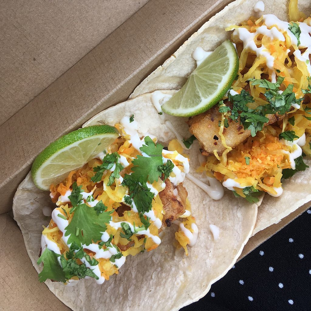 """Photo of Delicats  by <a href=""""/members/profile/Emlhr"""">Emlhr</a> <br/>Tofu tacos  <br/> January 30, 2018  - <a href='/contact/abuse/image/86734/352571'>Report</a>"""