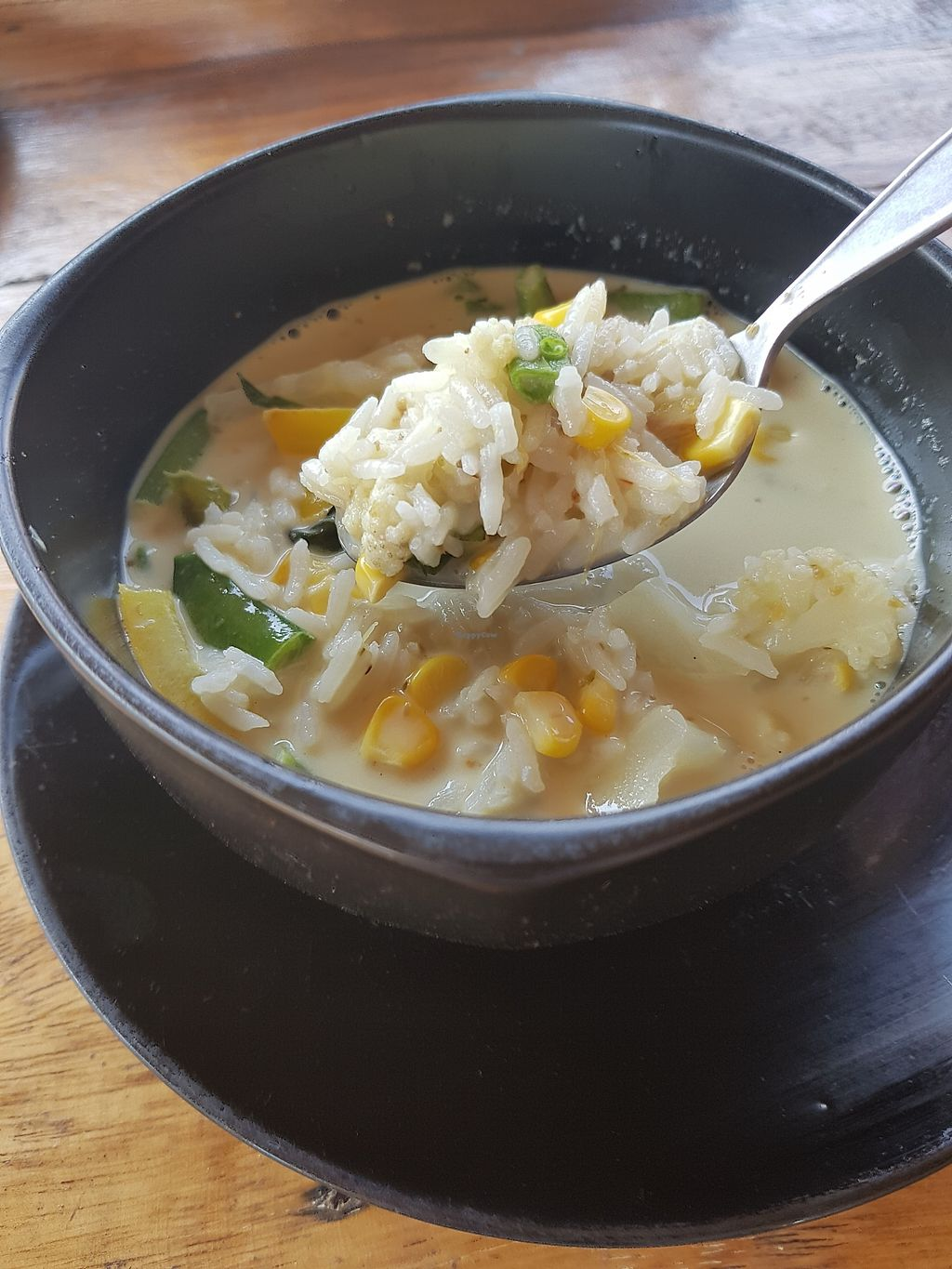 """Photo of The Chill  by <a href=""""/members/profile/vegatleticas"""">vegatleticas</a> <br/>Green curry soup with rice  <br/> March 4, 2018  - <a href='/contact/abuse/image/86748/366482'>Report</a>"""
