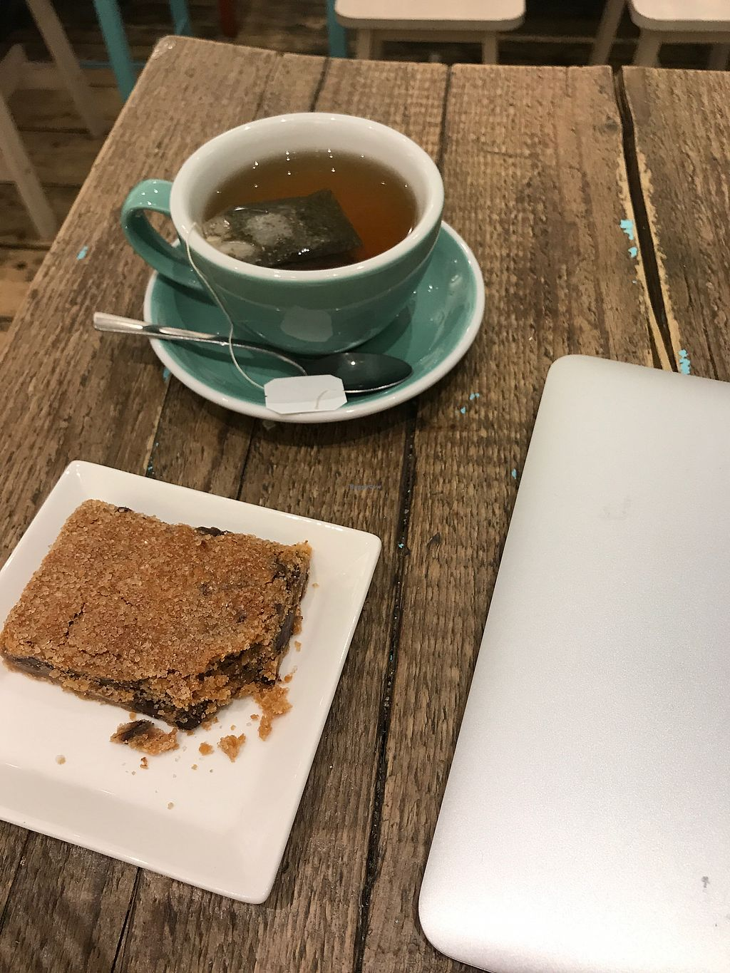 """Photo of Carmel by the Green  by <a href=""""/members/profile/TFM"""">TFM</a> <br/>Peppermint tea with vegan peanut butter blondie  <br/> March 28, 2018  - <a href='/contact/abuse/image/86758/377215'>Report</a>"""